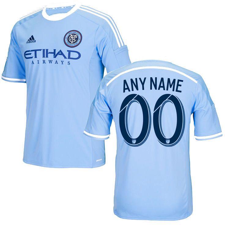 New York City FC adidas 2015 Custom Primary Replica Jersey - Light Blue - $114.99