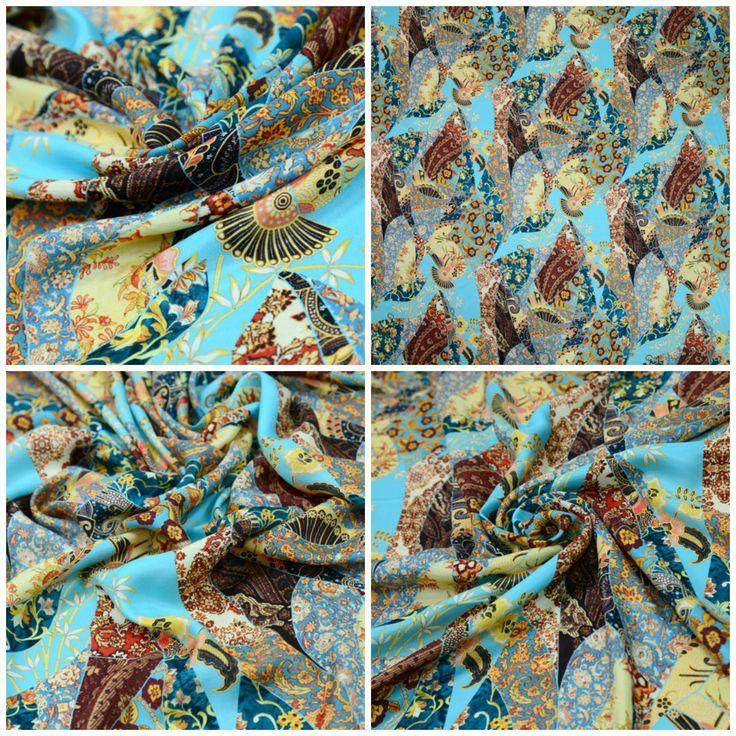 Шелковый креп-сатин  арт. 01-003-2347 Ширина: 140 см, плотность: 35г/м2 Состав ткани: 100% шелк Тонкая шелковая ткань, пластичная, хорошо драпируется. Подходит для пошива тонких блузок, платьев, сарафанов, туник и юбок. #шелк#блузочная#плательная#сатин#юбочная#туники#tutti-tessuti