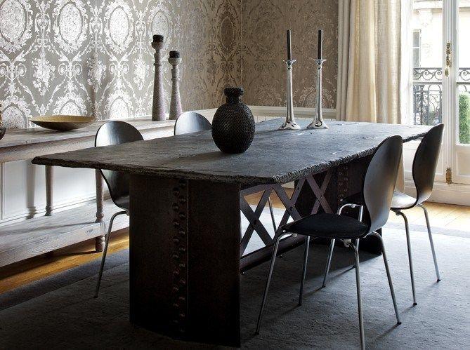 Slate Table Top Wood Dining TablesMetal TablesDining Room