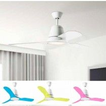 Leds-C4 Tiga plafond ventilator wit/transparant met 16.6Watt LED verlichting