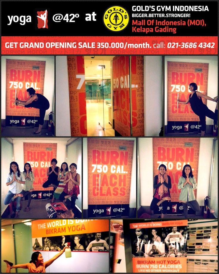 The World is doing BIKRAM YOGA. We are doing Bikram Yoga and lots of it....get our GRAND OPENING SALE 350.000/mth. call 021-3686 4342 www.bikramyogajakarta.com