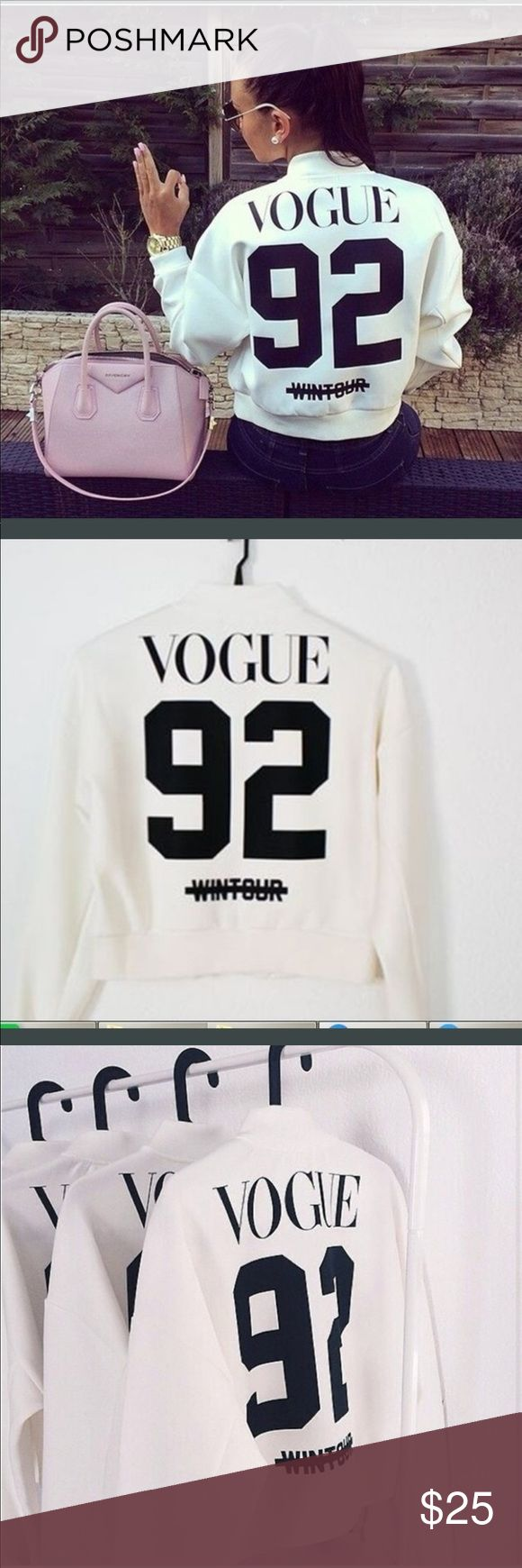 ⚡️final sale ⚡️Vogue sweater Brand new in rapper stretchy very beautiful with zipper Sweaters