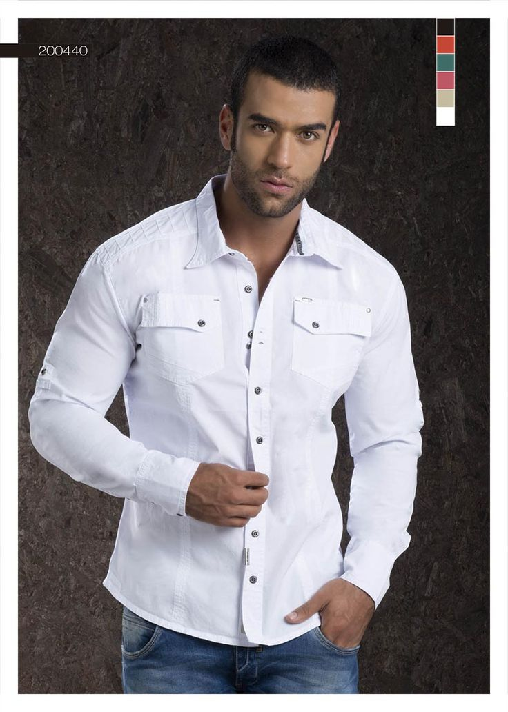 Camisa-para-hombre-color-white-manga-larga -white-shirt-for-men- long Sleeve Sexy, yet Casual Mens Fashion #sexy #men #mens #fashion #neutral #casual #male #males #guy #guys #hot #hotlooks #great #style #styles #hair #clothing #coolmensoutfits www.ushuaiajeans.com.co