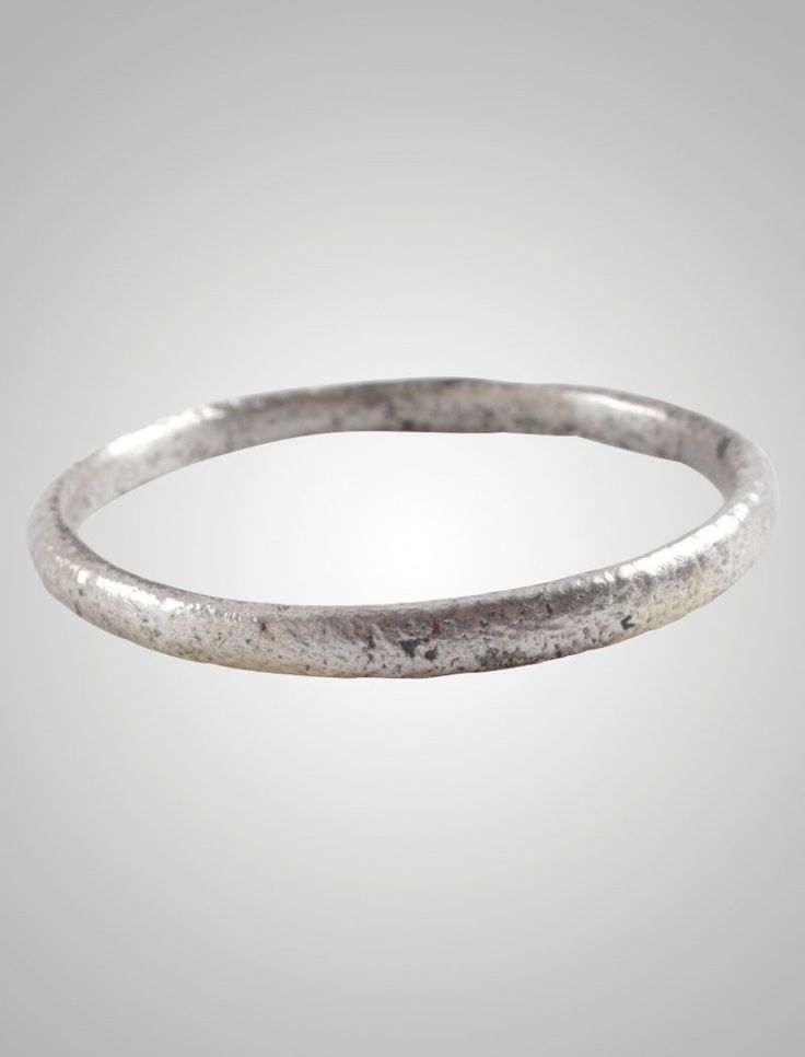 Ancient Viking Wedding Band Jewelry C.866-1067A.D. Size 10 1/4 (19.2mm)