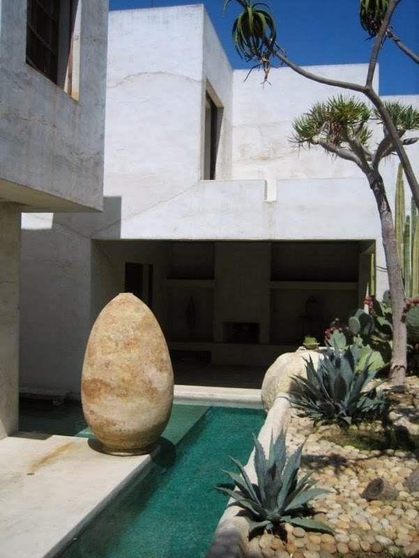 Cemento pulido para crear un oasis Marroquí en Venecia.