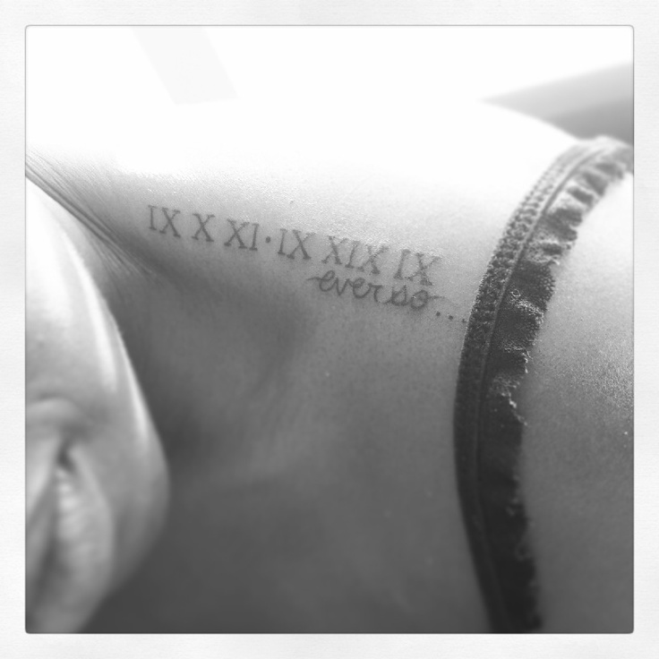 Roman Numeral Tattoos Font: 242 Best Roman Numeral Tattoos Images On Pinterest