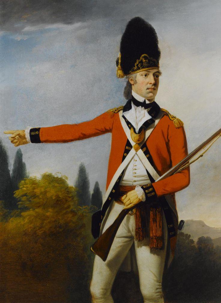 c.1779 Framed painting, portrait of Lieutenant Robert Hamilton-Buchanan in the uniform of the Royal Scots Fusiliers by David Allan Studio
