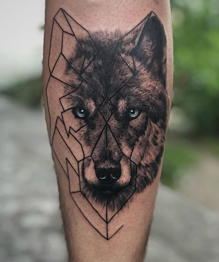 тебе тату бегущий волк фото конуса