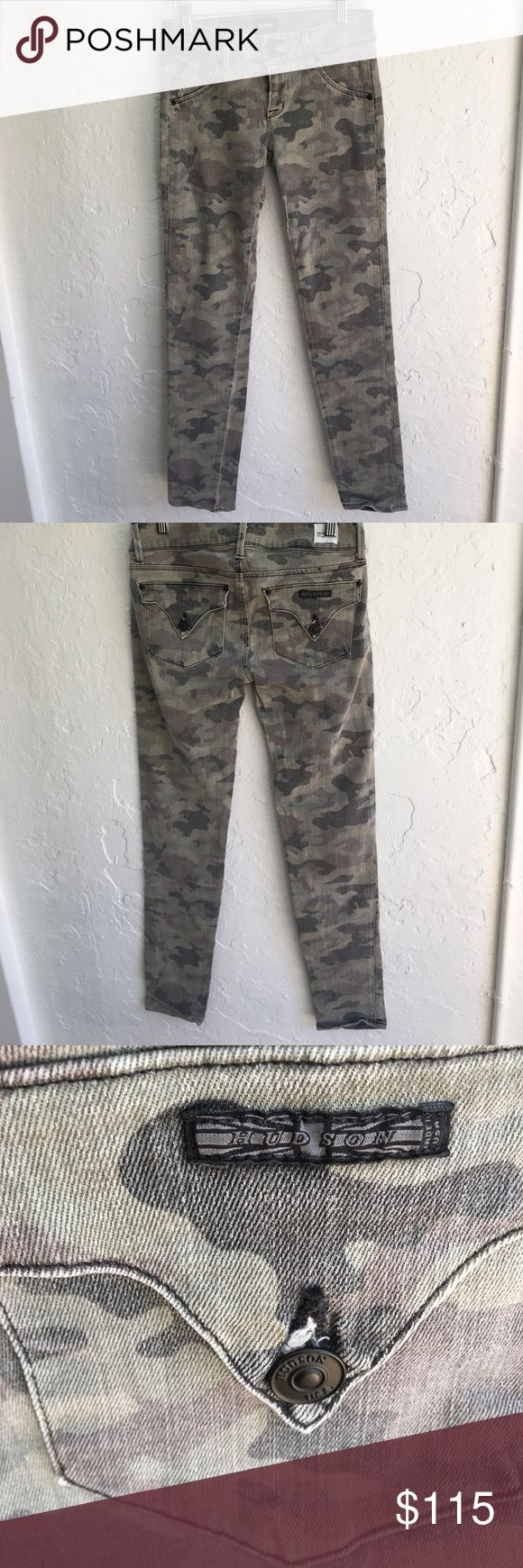 ***gently worn*** Hudson camo skinny jeans!!! These are the most comfortable pants ever! I've worn them several times- in great used condition! Just too small for me now :( Hudson Jeans Jeans Skinny