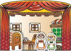 Hrajeme divadlo - v čj - kulisy ke stažení