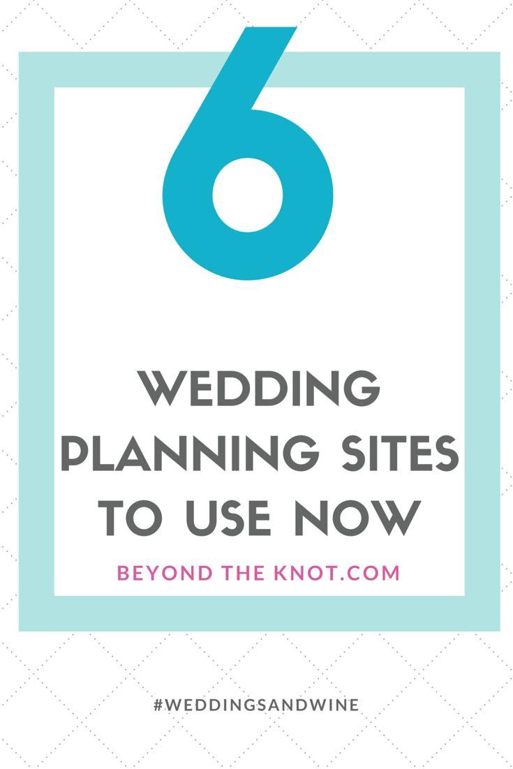6 wedding planning site to use now | #weddingsandwine