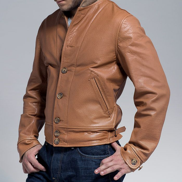 50's Cossack Leather Jacket -The Cossack jacket has ...