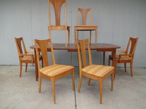 Mid Century Modern Broyhill Brasilia Sculptra Lenoir Chair Company Dining Set 7
