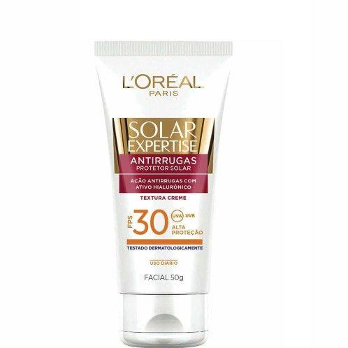 Protetor Facial Solar Loreal Expertise Rosto Antirrugas 50g FPS 30 - Ikesaki