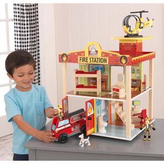 KidKraft Fire Station Set - Overstock™ Shopping - Big Discounts on KidKraft Play Sets