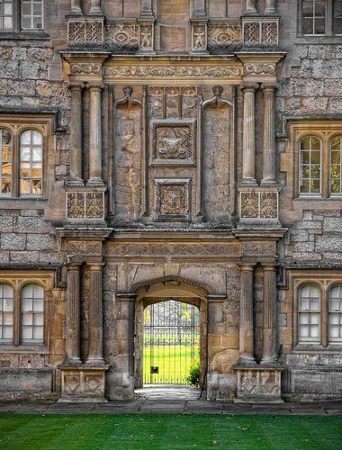 Fellow's Quad, Merton College Oxford, UK