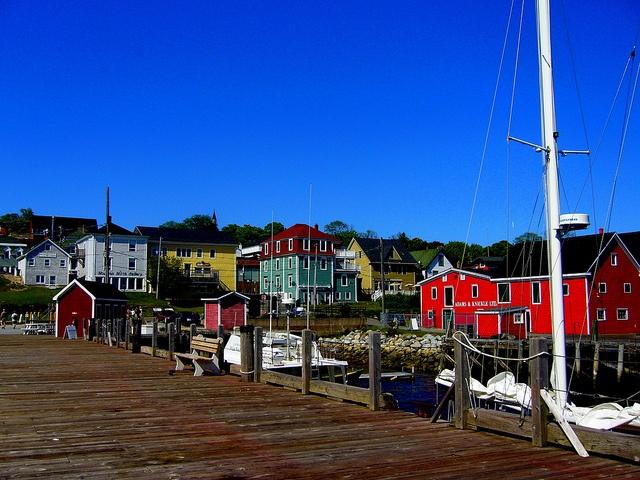 Lunenburg, Nova Scotia boardwalk