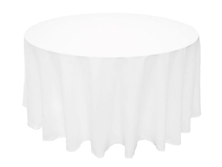 "Dozen lot 90"" ROUND POLYESTER TABLECLOTHS Wholesale Wedding Restaurant Supply"