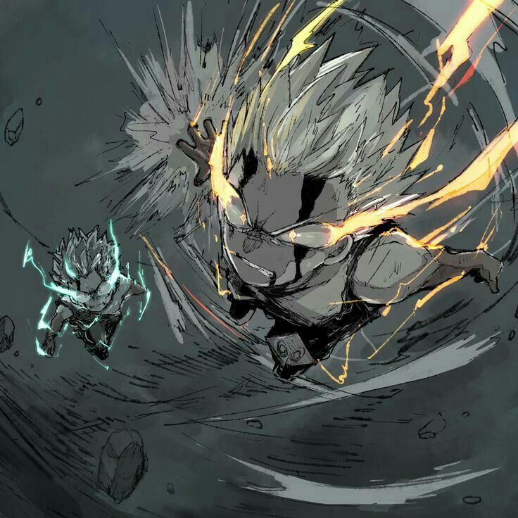 Deku And Bakugou At 100 Vs Nine Heroes Rising Hero Wallpaper My Hero Anime Wallpaper