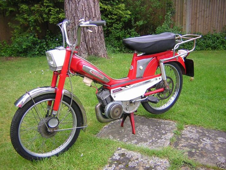 My Mobylette -I travelled the length and breadth of Brittany on one of these. When I was 17 my then BF bought me one identical to this which took me everywhere for the next four years. 200 miles to the gallon. Am trying to replace it as I dream of riding one again.