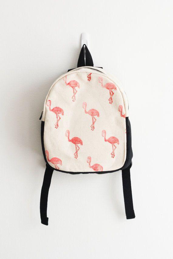 MADE TO ORDER Toddler backpack Flamingo print by mulberryandjune