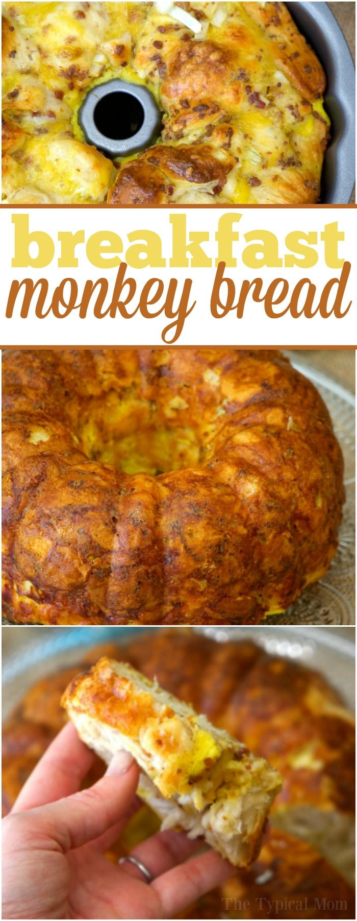 Bacon egg and cheese breakfast bundt cake is amazing and so easy!! You've got to make this at home, it is savory and perfect for breakfast or brunch. via @thetypicalmom
