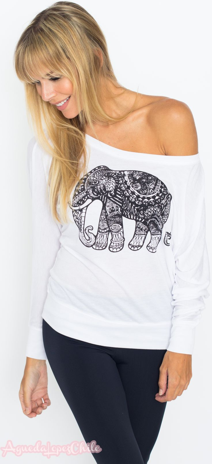 Who doesn't love elephants? They show us how to be strong, yet calm, and to take care of our loved ones. New tops coming soon!!! funkyyoga.com
