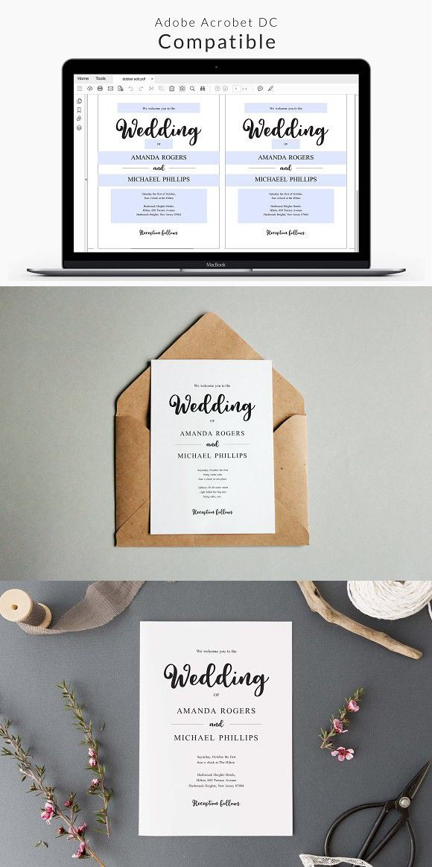 Wedding Invitation Template 11073 best Wedding Card
