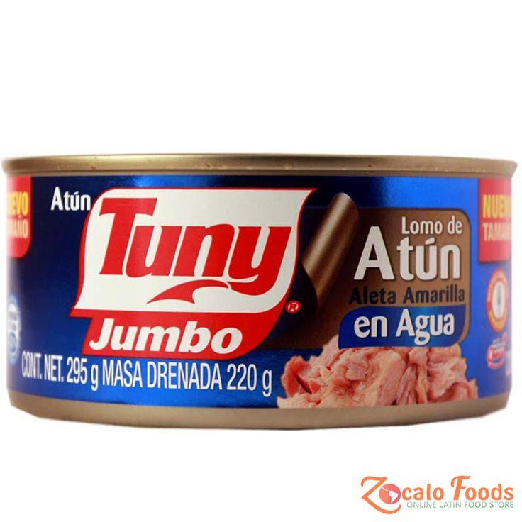 Tuny Jumbo Lomo de Atun en Agua (Tuna in Water) 10.4 oz