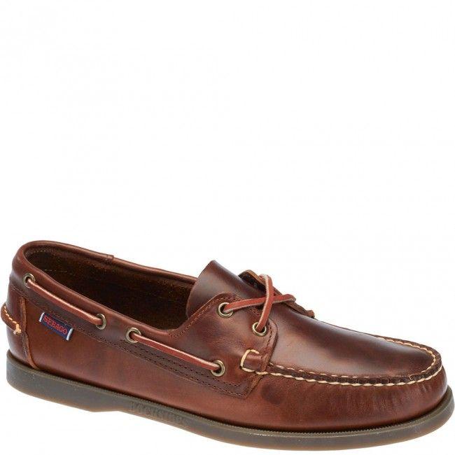 SEBAGO Men'S Men'S Docksides Wine Leather Shoes In Size 50 E (W) Burgundy L2yD6I2F0
