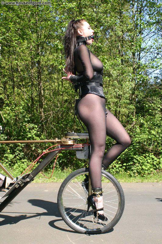 Femdom outdoor lesbian slave She cute!