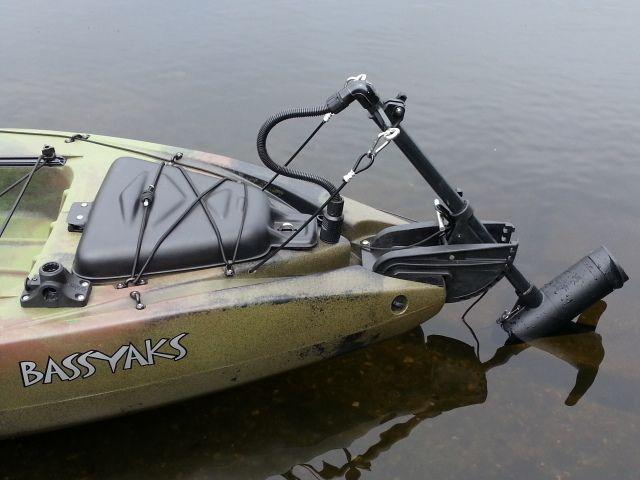 Bassyaks trolling motor on jackson coosa hd fishing for Fishing kayak with trolling motor