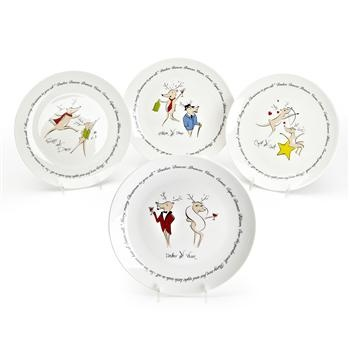 Xmas Reindeer Porcelain Side Plate  sc 1 st  Pinterest & 34 best Reindeer Dinnerware images on Pinterest | Christmas dishes ...