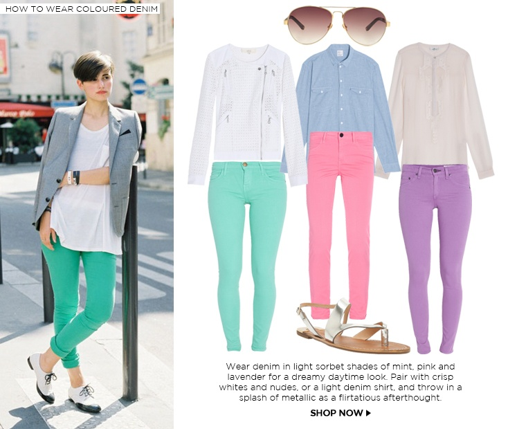 Coloured Denim : How to Wear Coloured Denim