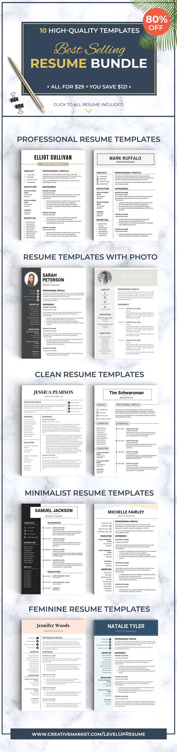 Best Selling RESUME BUNDLE CV 4033