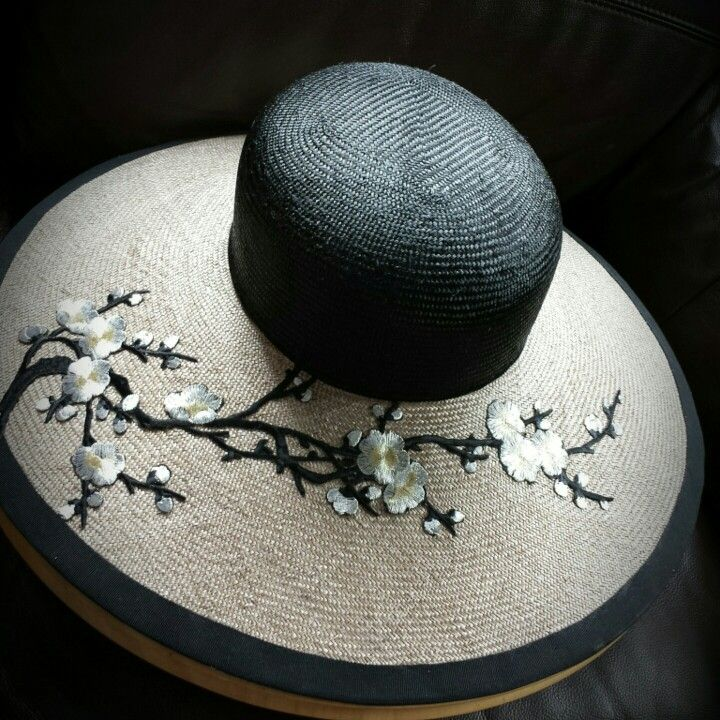 Plum blossom straw hat . Mind Your Bonce Millinery by Karen Geraghty