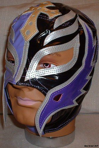 REY MYSTERIO Pro-Grade KIDS Black/Purple MASK by Main Street 24/7. $49.99. Brand New Officially Licensed by WWE   WWE SUPERSTAR REY MYSTERIO KIDS SIZE PRO-GRADE MASK  WWE Rey Mysterio KIDS Size Replica Mask   Officially licensed by WWE   Made directly from Rey Mysterio's own mask   Fits most kids ages 8 & up   Simulated Leather