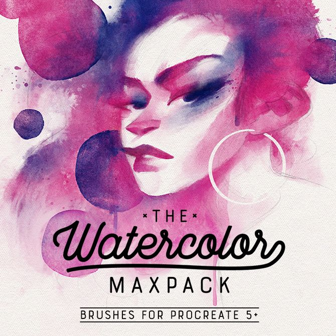 The Watercolor Maxpack Brushes For Procreate In 2020