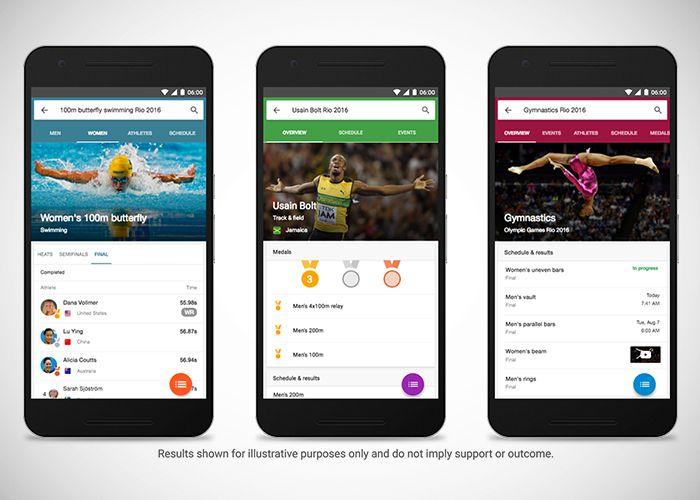 Google Rio 2016 busqueda guia