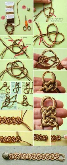 Geek-A-Nator: Celtic Knot Bracelet Tutorial                                                                                                                                                     More