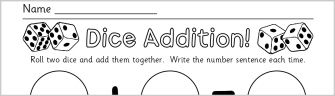 Early Years and KS1 Addition Activities and Games - SparkleBox