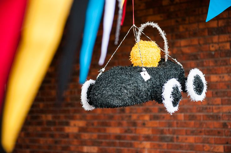 LETTUCE & CO - STYLE. EAT. PLAY. vroom...now what little boy doesn't love cars?! sharp and modern race car party, custom made piñata, bunting, event styling