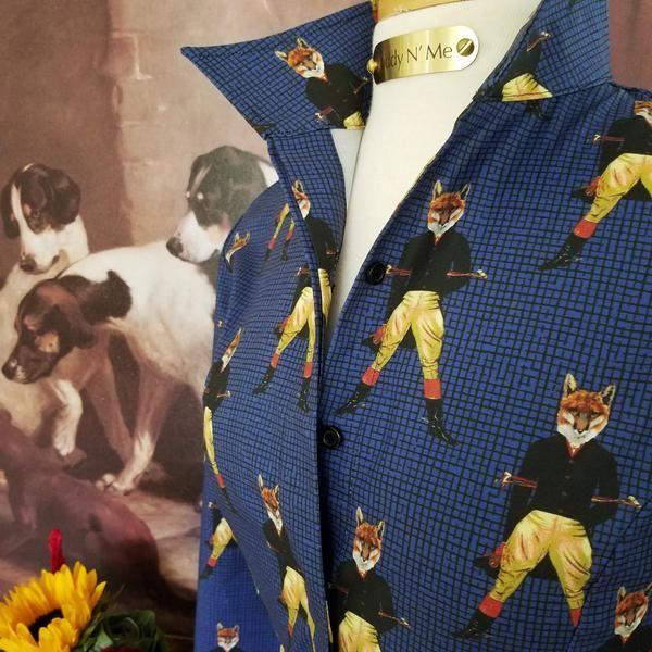 SIR CHARLES FOX SHIRT IN NAVY - Middy N' Me