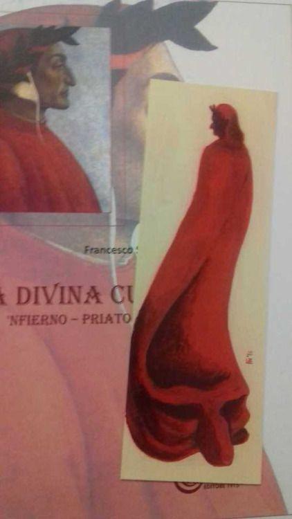 "bookmark realized for the nepolitan translation of Dante's ""Divina Commedia"""