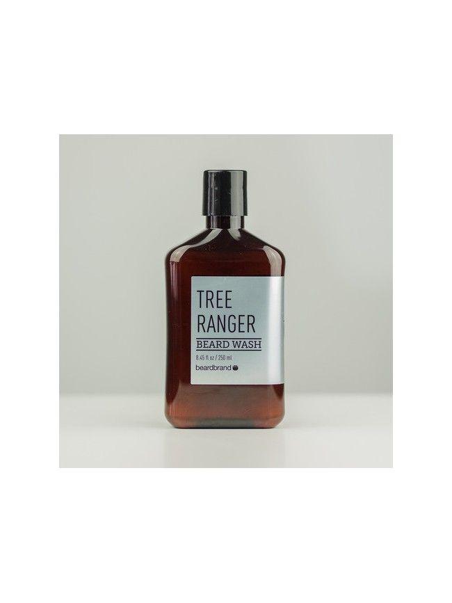 """Champú para Barba """"BeardBrand Tree Ranger Beard Wash"""" formulado con ingrdientes naturales para limpiar y suavizar la Barba con una fresca fragancia a Eucalipto, Pino y madera de Cedro."""