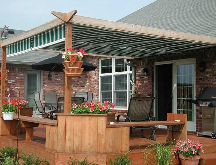 Awnings For The Back Yard | ... Right Patio Covering For Your Backyard Oasis