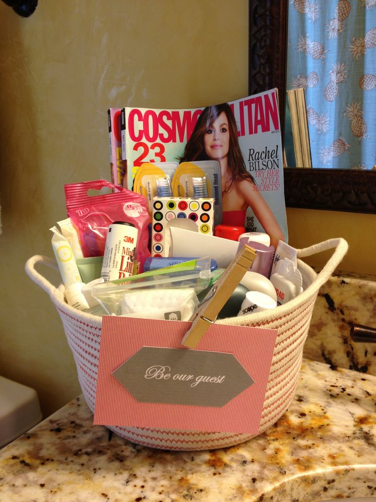 Basket Of Toiletries And Goodies For My Guest Guest