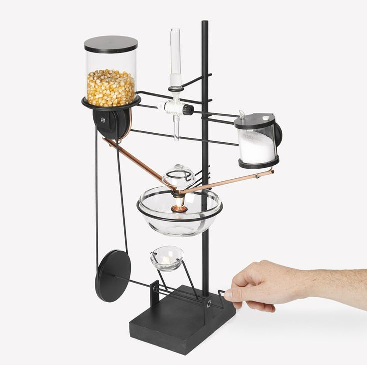 """Uncle Sam"" by ECAL - Machine processes grains one by one to focus on converting corn into popcorn. An explosion that occurs here is usually isolated mass to enjoy the show. Satisfaction is both visual and gastronomic."