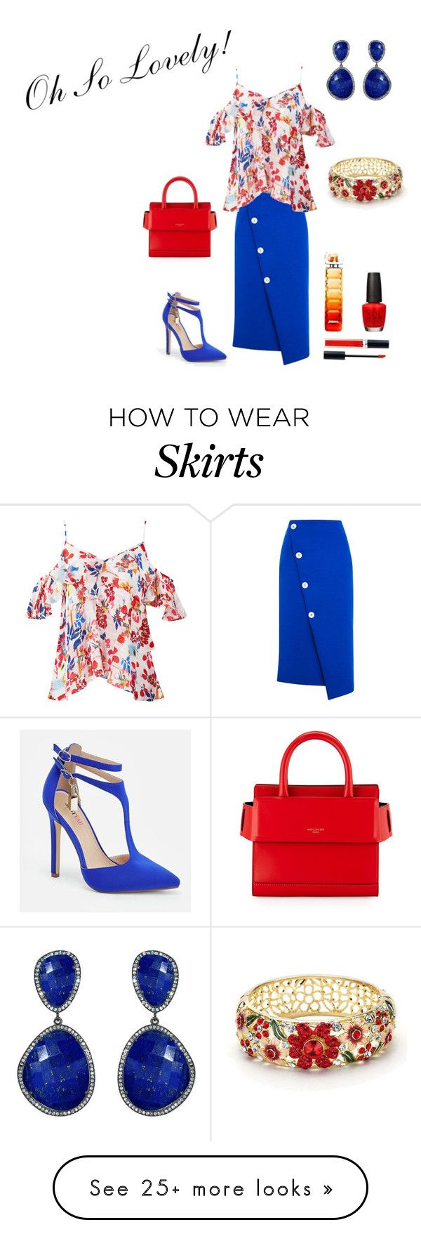 """""""Oh So Lovely!"""" by denise-grimes on Polyvore featuring Topshop, Tanya Taylor, JustFab, Givenchy, Susan Hanover, Christian Dior, OPI and BOSS Orange"""