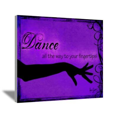 Tribal Bellydance purple Canvas Art